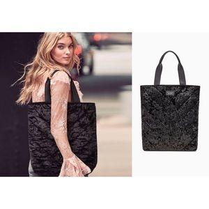 Victoria's Secret Black Velvet Toe Bag